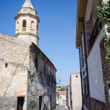 Mara, itinerary The old town centre. Belfry of the parish church. (photo Angelo Marras)